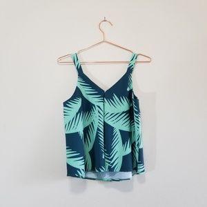 bacardi Tops - Palm leaf tank top blouse